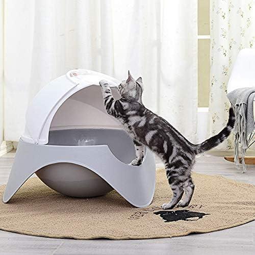 Yshen Caja de Arena para Gatos Totalmente Cerrado Gato Aseo Gato ...