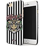Glitbit iPhone 7 / 8 Case Embroidered Print Tiger Stylish Tumblr Animal Chic Vintage Thin Design Durable Hard Shell Plastic Protective Case For Apple iPhone 7 / 8