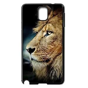 Diy Lion Animal Phone Case for samsung galaxy note 3 Black Shell Phone JFLIFE(TM) [Pattern-2] Kimberly Kurzendoerfer