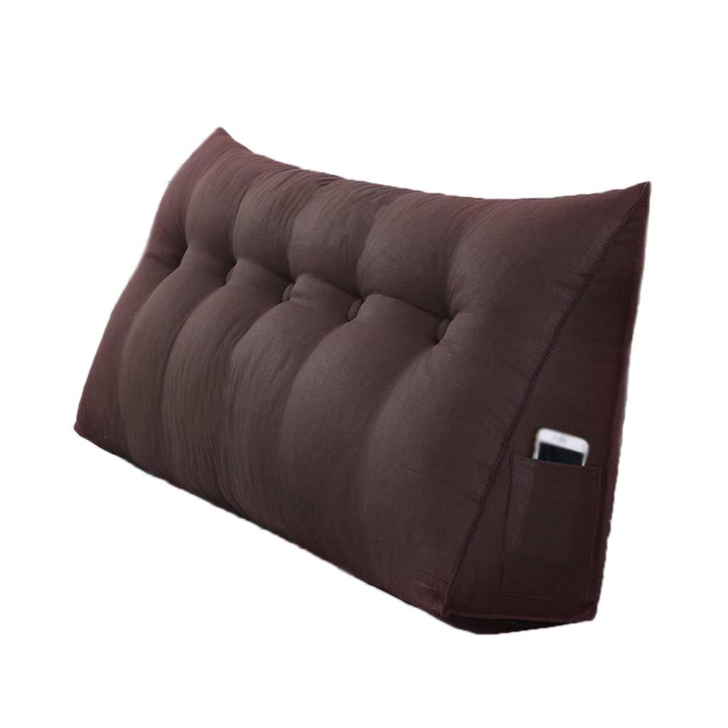 CHANG-pillows Cuscino Tinta Unita, Imbottitura in Cotone Allungato Cuscino Rimovibile Staccabile Facile da Pulire Cuscino Taglie Multiple (colore   caffè, Dimensioni   150CM)