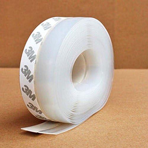 100 x 2.5 x 0.5 cm Transparent Coupe-vent Silicone Bande étanchéité porte barre d/'étanchéité