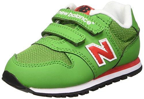 New Balance Jungen NBKV500GDI Babyschuhe, Verde (Green Red), 23 1/2 EU