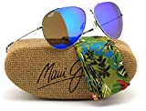 Maui Jim B264-17 MAVERICKS Silver Titanium Frame / Polarized Blue Hawaii Lens