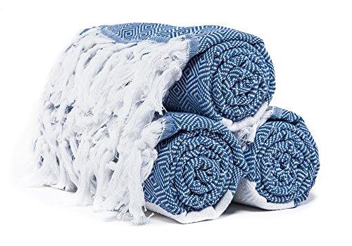 Atlantis Turkish Peshtemal Towel for Beach Bath Denim Blue D