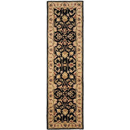 Safavieh Heritage Collection HG957A Handcrafted Traditional Oriental Black and Gold Wool Runner (2'3