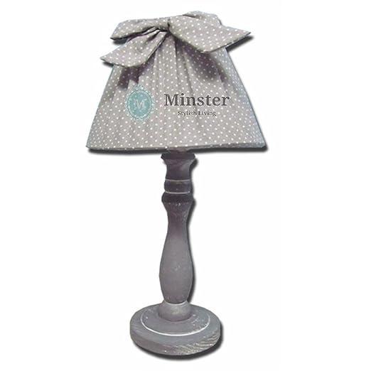 grey shabby chic ribbon table lamp amazon co uk lighting rh amazon co uk shabby chic table lamps uk shabby chic table lamps uk
