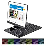 Cstorm 9.7'' New iPad 2017 2018 Bluetooth Wireless Smart Keyboard Case 7 Color LED Backlit Ultra Thin Auto Sleep Wake up 360 Rotatable Stand Folio Protective Dust-proof Cover for iPad Air Air2 Pro9.7''