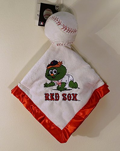 Boston Red Sox 14 x 14 Security Plush Ball Baby Blanket - Wally The Green Monster]()