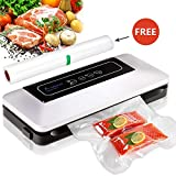 Aobosi Vacuum Sealer Automatic Food Savers Vacuum Machine with BPA Free Bag Roll for Food Save and Sous Vide Cooking,Super Low Noise,Normal& Gentle Vacuum Modes,Multi-use Vacuum Packing Machine