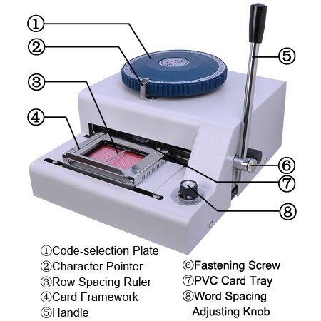 Ariic Brand New 70-Manual Embosser Credit ID Plastic PVC Card Manual Embossing Machine by Ariic