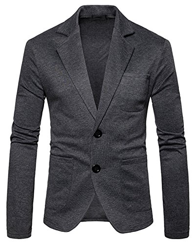Ovo 1 Light (Whatlees Mens Long Sleeve V Neck Lapel One Button Slim Fit Sweater Cardigan B936-DarkGray-M)