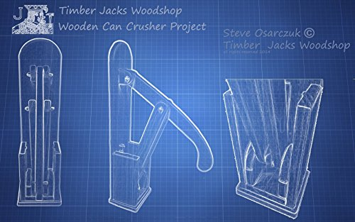 Wooden Can Crusher Project Plans by Timber Jacks Woodshop