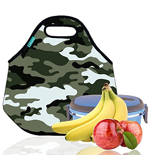Lunch Tote, OFEILY Lunch boxes Lunch bags with Fine Neoprene Material Waterproof Picnic Lunch Bag Mom Bag (Disruptive Pattern)
