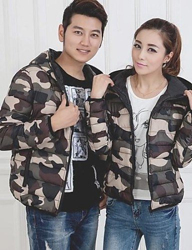 army Larga Casual Algodón army Grueso green 2xl YRF 2xl green Parka red xl Regular Manga xSqw501Y