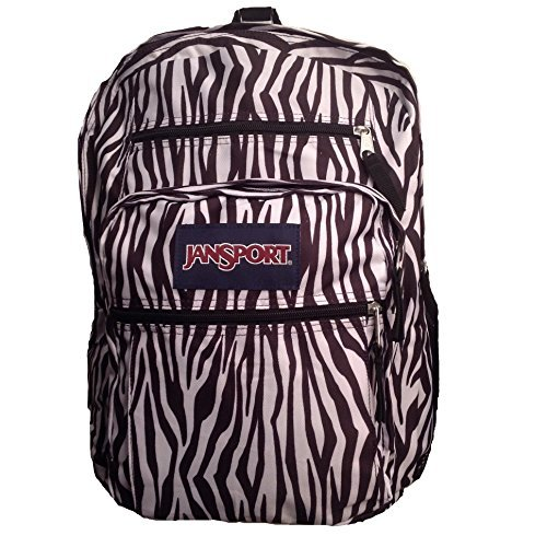 JanSport Big Student Backpack- Sale Colors (Black/White Zebra Stripe) -