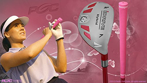 "Petite Senior Women's iDrive Golf Club Hybrid #7 Right Handed New Rescue Utility ""Senior"" Flex Club Perfect for Petite Shorter Women 4'10 to 5'3'' Tall 55+ Years Old"