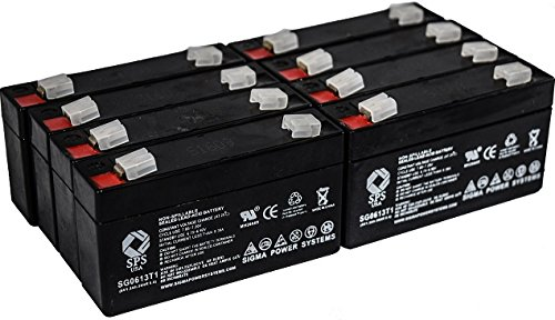 Acme Medical 5000 Scale - SPS Brand 6V 1.3Ah Replacement Battery for Acme Medical 5000 Scale (8 Pack)