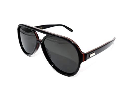 4bc205a3695 Image Unavailable. Image not available for. Color  GUCCI Polarized Black  Pilot Sunglasses GG0270S - 001