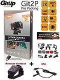 """Camara deportiva GITUP GIT2P PRO edition VERSIÓN ESPAÑOLA (Nuevo modelo 2017, 2 años de garantía oficial GITUP ESPAÑA) + control remoto + microfono GITUP! Sensor Panasonic 2160P 24fps 1080p 60fps, WIFI, FOV 170º,120º, Panasonic MN34120PA 16MP, estabilizador imagen, Bateria 1000mha, sumergible 30M.Chipset Novatek NTK96660, LCD 1.5"""". Package e instrucciones en español y esta versión INCLUYE lector USB de MicroSD para descargar tus videos en tu PC"""
