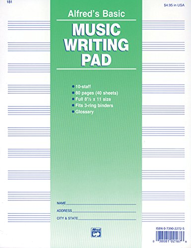 Alfreds Basic Music Writing Pad