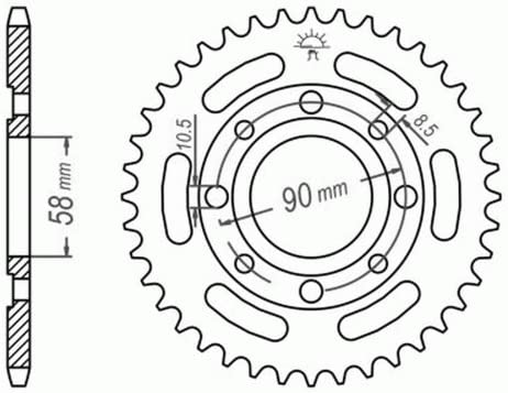 JC29 2000 DID X-Ring super verst/ärkt Kettensatz f/ür Honda VT 125 C2 Shadow