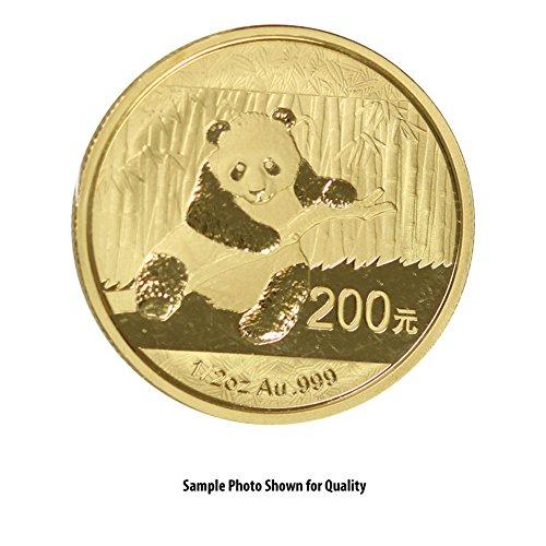 Gold Coin Rare (1982 CN -Present China Gold Panda (Random Year) 1/2oz Brilliant Uncirculated)