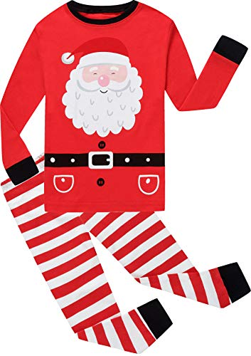 shelry Girls Stripe Christmas Pajamas Big Children Santa Claus Pjs Cute Sleepwear Kids Clothes Size 3]()