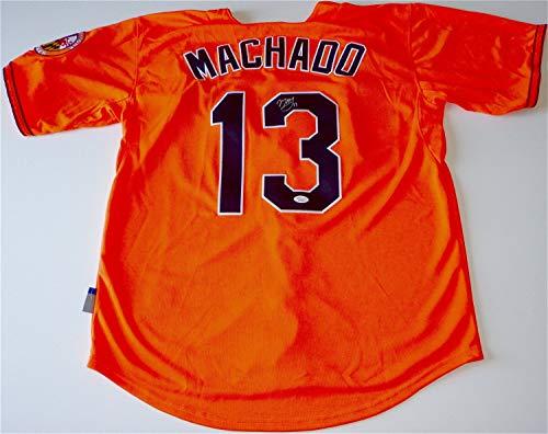 - Manny Machado Baltimore Orioles Autographed Signed Alternate Orange Jersey Memorabilia JSA Loa Y57037