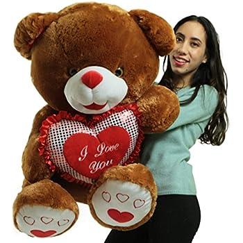 Amazon Com Giant Valentines Day Teddy Bear Soft White Oversized