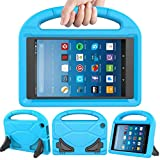 eTopxizu Kids Case Compatible All-New Amazon Fire HD 8 2017/2018 - Shock Proof Light Weight Convertible Handle Stand Kids Case Compatible with Fire HD 8 Tablet 2017/2018 (7th & 8th Generation), Blue