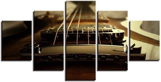 Impresión sobre Canvas Pintura 5 Partes Instrumento De Guitarra ...