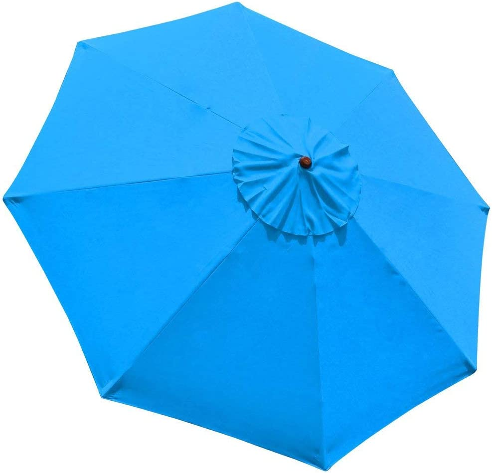 New 9 FT Market Patio Garden Umbrella Replacement Canopy Canvas Cover Blue