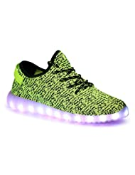 UBBC Unisex USB Charging LED Shoes Slip-on Loafers Flashing Sneakers