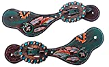 PRORIDER Western Horse Riding Cowboy Boots Leather Spur Straps Tack Ladies Youth 74M80234