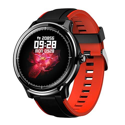 GOKOO Smartwatch Bluetooth Männer Herren Damen Fitness Full-Touchscreen IP68 Wasserdicht Sportuhr mit Schrittzähler…