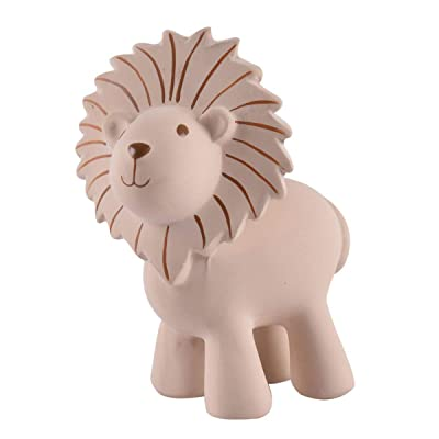 Tikiri My First Safari Lion Natural Rubber Rattle (Brown): Toys & Games