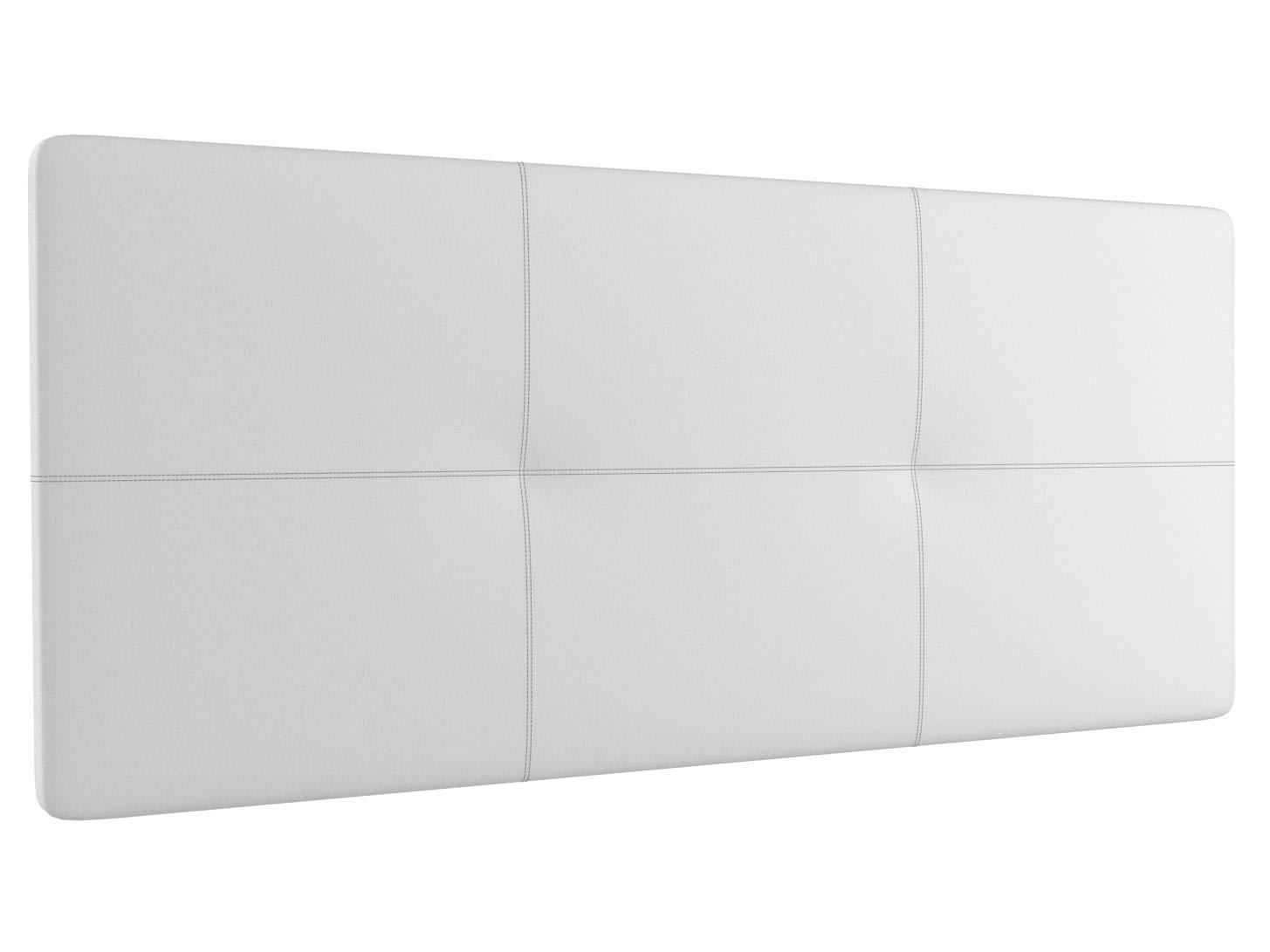 LA WEB DEL COLCHON Cabecero tapizado Acolchado Atenas (Cama 105) 115 x 70 cms. 00 - Blanco: Amazon.es: Juguetes y juegos