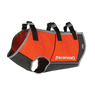 Browning Full Coverage Dog Safety Vest Dog Hunting Vest, Full Coverage, Safety Orange, Small