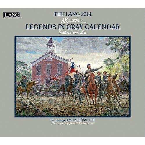 2014 The Lang Mort Kunstler LEGENDS IN GRAY Wall - 2015 Wall Folk Art Calendars