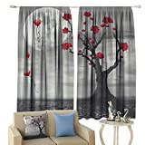 lovely traditional bathroom sinks cobeDecor Apartment Art Insulated Sunshade Curtain Full Moon Flowers Abstract Fiance Gifts for Her Bathroom Celebration Moonlight Mystic Romance Lovely Noise Reducing