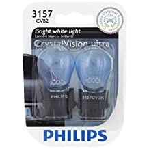 Philips 3157 CrystalVision ultra Miniature Bulb, 2 Pack