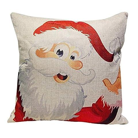 FAPIZI Christmas Sofa Bed Home Decoration Festival Pillow Case Cushion Cover (Multicolor a)