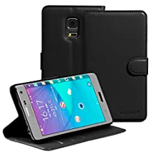 Fosmon® Galaxy Note Edge CADDY-DÉMODÉ Leather Multipurpose Wallet Case for Samsung Galaxy Note Edge (Black)