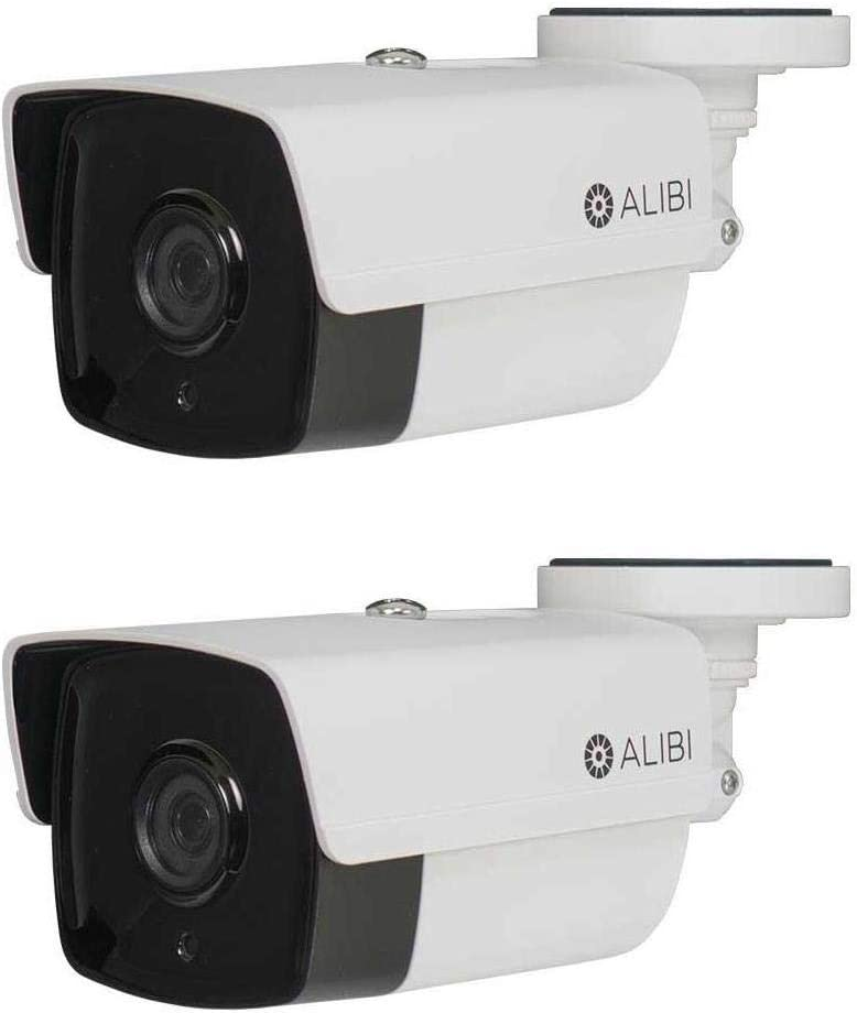 Alibi 2 Pack 2.0 MP HD-TVI 260' IR Outdoor Bullet Security Camera with 3.6mm Wide Angle Lens