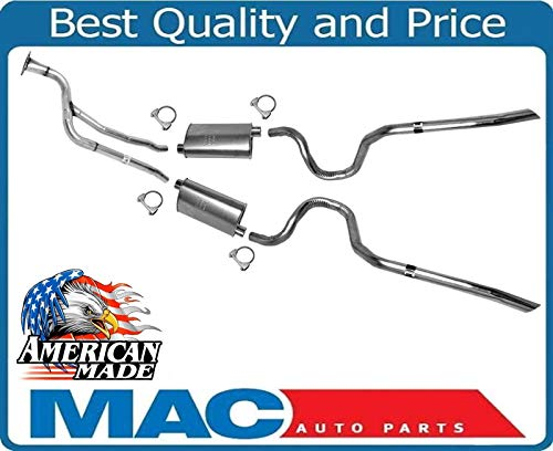 - Dual Exhaust Muffler System MADE IN USA for Chevrolet 84-88 Monte Carlo SS 5.0
