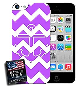 Colorful Purple Chevron Anchor iPhone 5c Hard Case