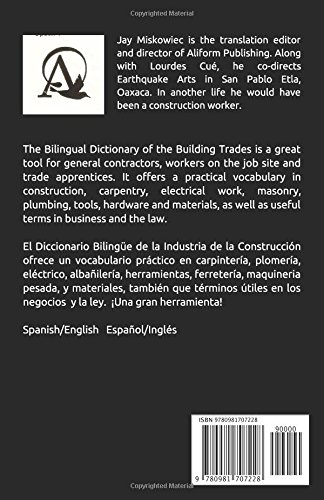 The Bilingual Dictionary of the Building Trades, Spanish/English: El