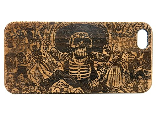 day-of-the-dead-iphone-6-or-iphone-6s-case-ecofriendly-bamboo-wood-cover-mexican-calavera-oaxaquena-