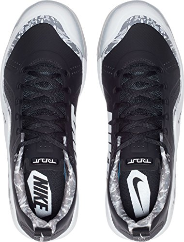 Nike Heren Forel Kracht Zoom 4 Turf Baseball Trainers Ons) Wit / Zwart
