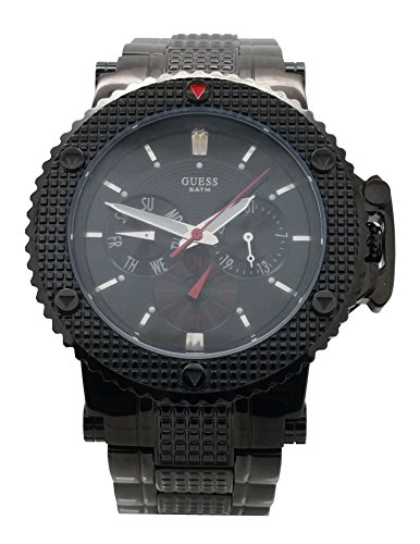 Guess Men Watch Steel Black Date and Day W18525G1
